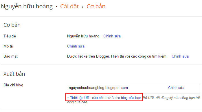 hướng dẫn trỏ domain về blogspot