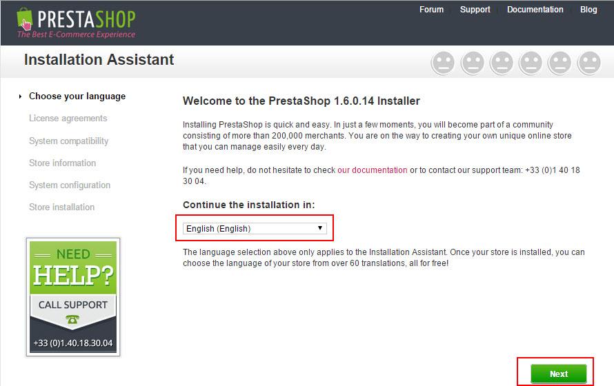 Hướng dẫn cài đặt Prestashop 1.6