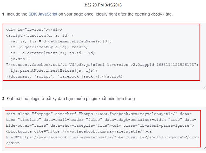 Cách cài đặt fanpage facebook vào blogspot
