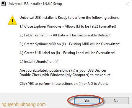 cài đặt ubuntu desktop bằng usb