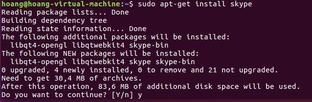 Hướng dẫn cài đặt Skype on ubuntu 16.04