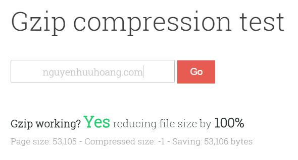 Hướng dẫn bật gzip compression