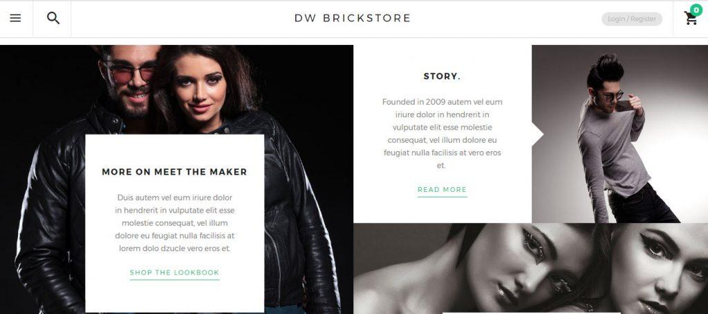 wordpress theme bán hàng dw brickstore