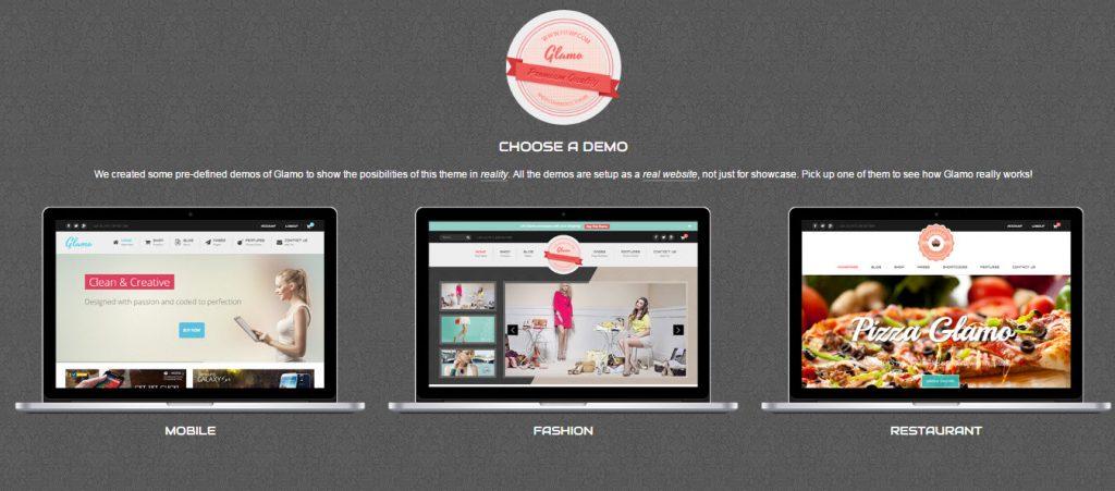 wordpress theme bán hàng glamo